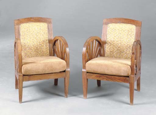 A PAIR OF COLONIAL HARDWOOD AN