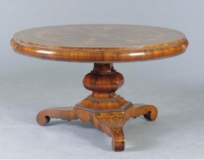 A WILLIAM IV STYLE WALNUT AND