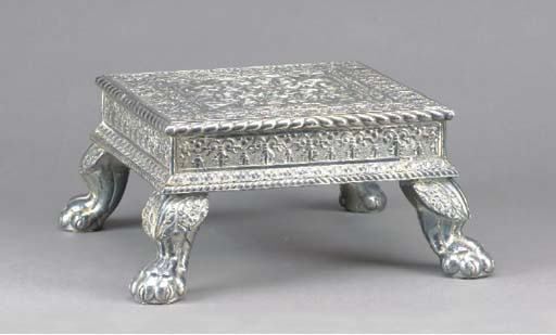 AN ANGLO-INDIAN SILVERED SHEET