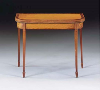 A GEORGE III ROSEWOOD-BANDED S