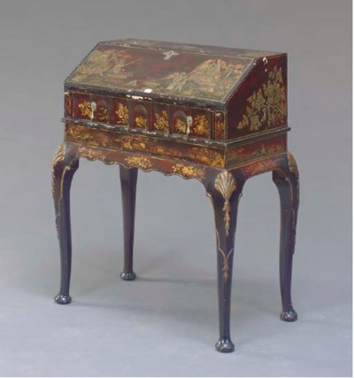 A QUEEN ANNE STYLE JAPANNED AN