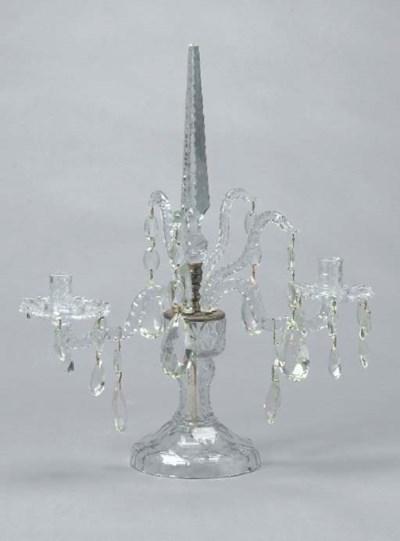 A PAIR OF GEORGE III CUT GLASS