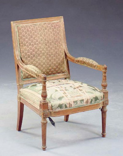 A LOUIS XVI STYLE CARVED BEECH