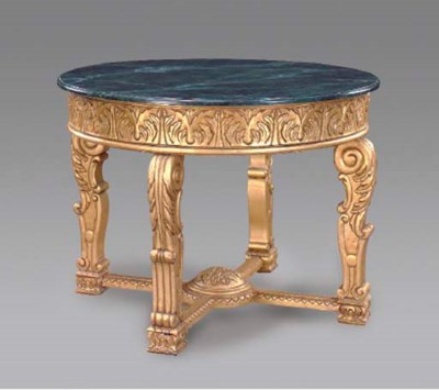 A LOUIS XIV STYLE GILTWOOD AND