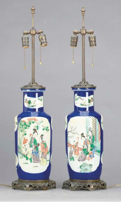A PAIR OF CHINESE PORCELAIN FA