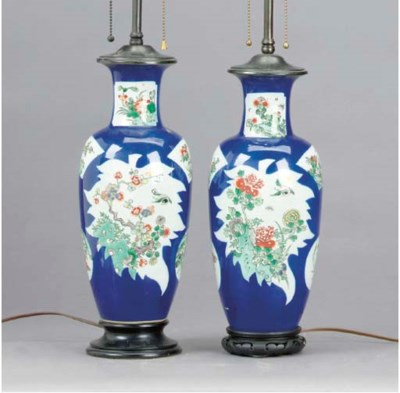 A NEAR PAIR OF CHINESE PORCELA