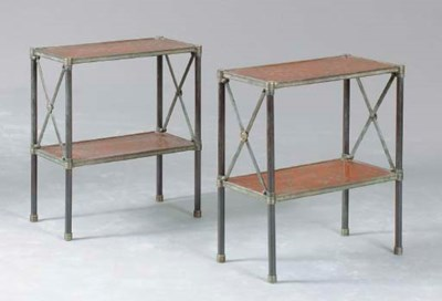A PAIR OF REGENCY-STYLE PATINA