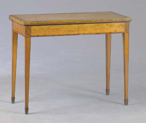 A LATE VICTORIAN SATINWOOD, AM