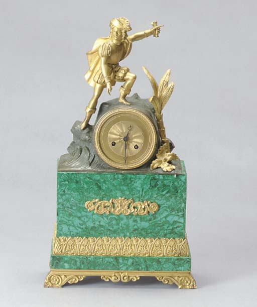 A CHARLES X PATINATED AND GILT