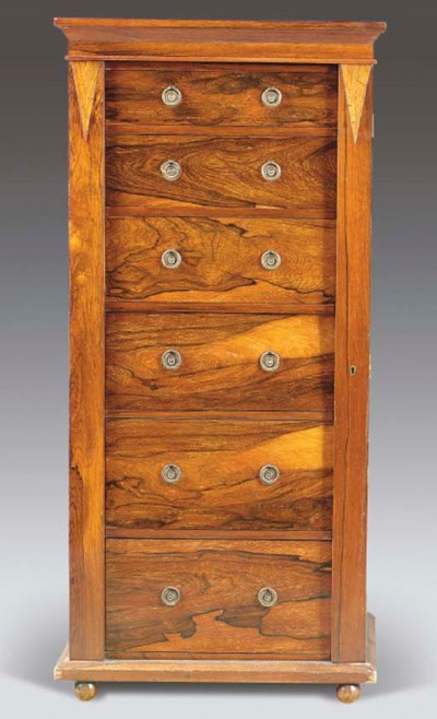 A VICTORIAN ROSEWOOD WELLINGTO