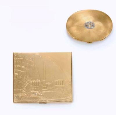 TWO RETRO GOLD CASES