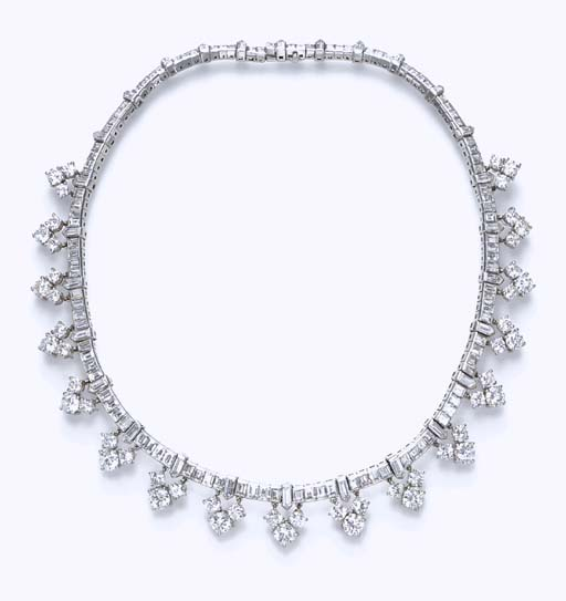 A DIAMOND NECKLACE, BY VAN CLEEF & ARPELS