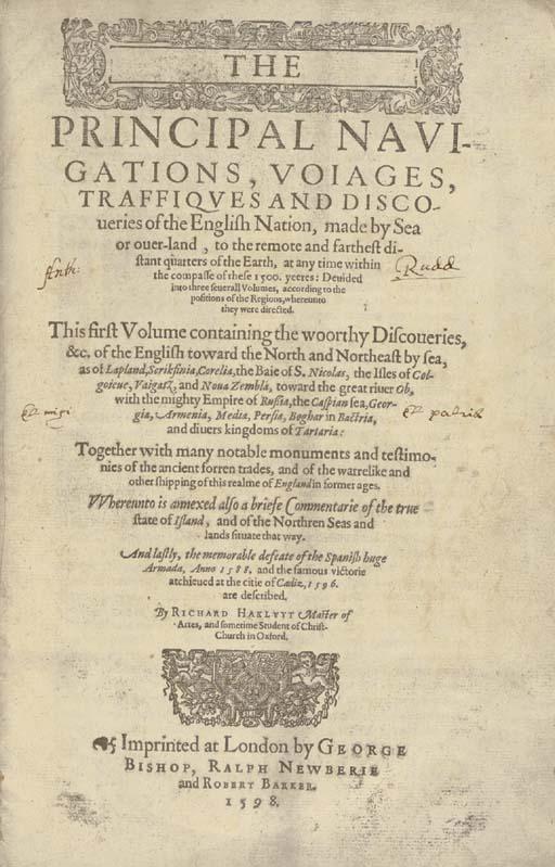 HAKLUYT, Richard (ca 1552-1616