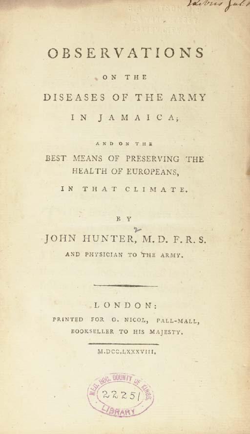 HUNTER, John. Observations on