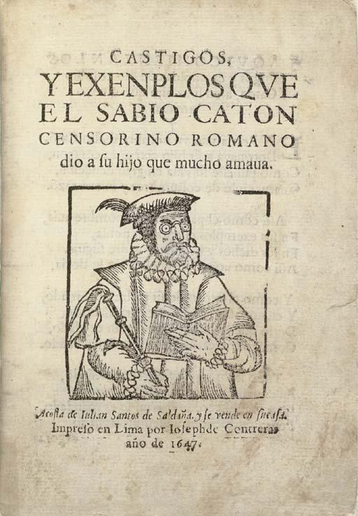 [CATO, Marcus Porcius, 2nd cen