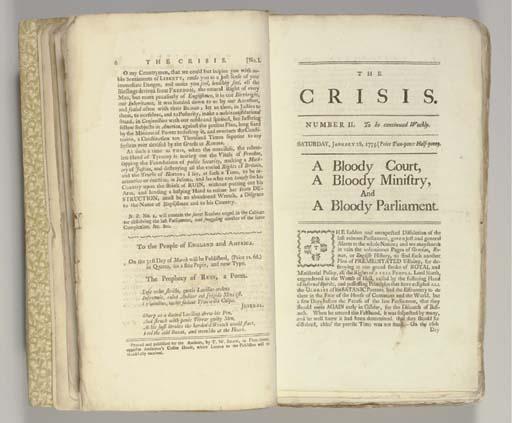 [REVOLUTIONARY WAR]. The Crisi