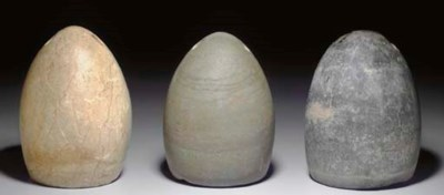 THREE BACTRIAN STONE WEIGHTS