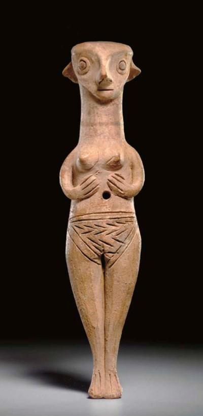 A CYPRIOT TERRACOTTA FEMALE FI