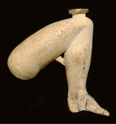 A RHODIAN POTTERY FIGURAL ARYB