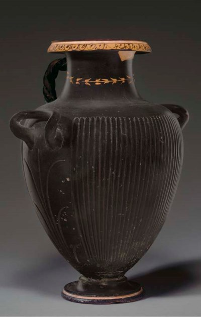 A GREEK BLACK-GLAZED HYDRIA
