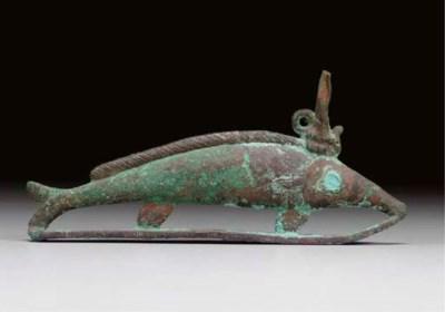 AN EGYPTIAN BRONZE OXYRYNCHUS