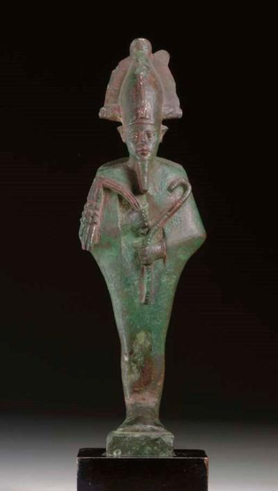 AN EGYPTIAN BRONZE OSIRIS