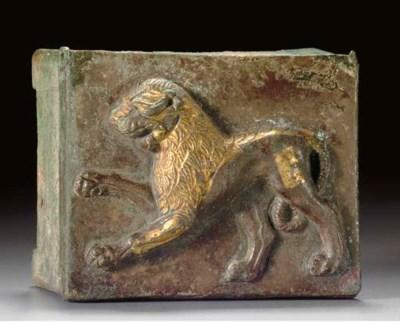 A ROMAN PARCEL GILT SILVER BOX