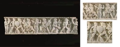 A ROMAN MARBLE RELIEF