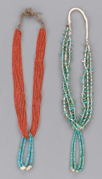 TWO SOUTHWEST NECKLACES