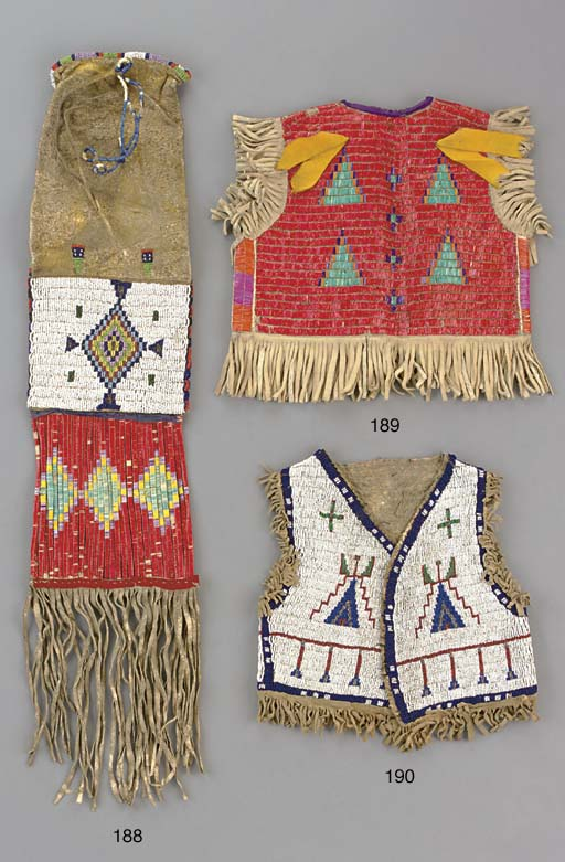 A SIOUX CHILD'S QUILLED HIDE V