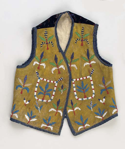 A WESTERN SIOUX CHILD'S BEADED