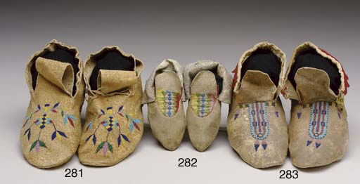 A PAIR OF EASTERN SIOUX CHILD'