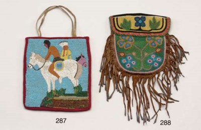 A PLATEAU PICTORIAL BEADED HAN