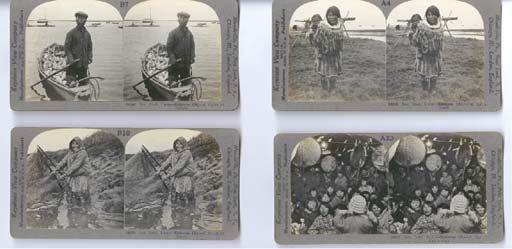 A SET OF STEREOGRAPHS DEPICTIN