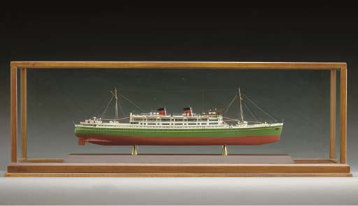 A fine small scale model of the T.S.S. Awattea