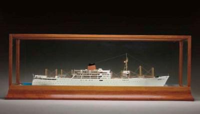 A diorama of the M.V. Akaroa f