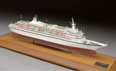 A scale model of the M.V. Roya