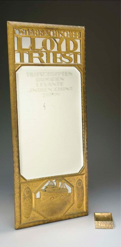 A hammered brass mirror and as