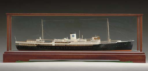 A scale waterline model of the S.S. Saga