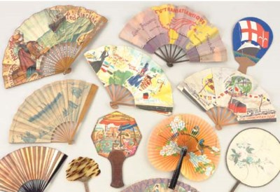 A group of fans from various s