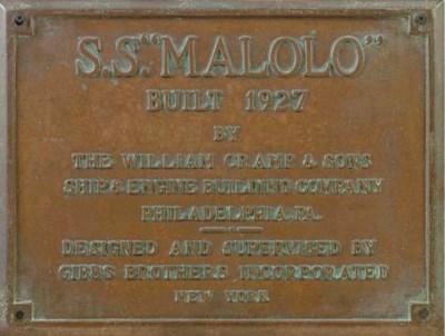 A bronze builder's plaque for