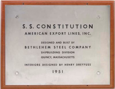the builder's plaque for the S