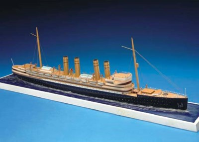 A waterline model of the S.S.