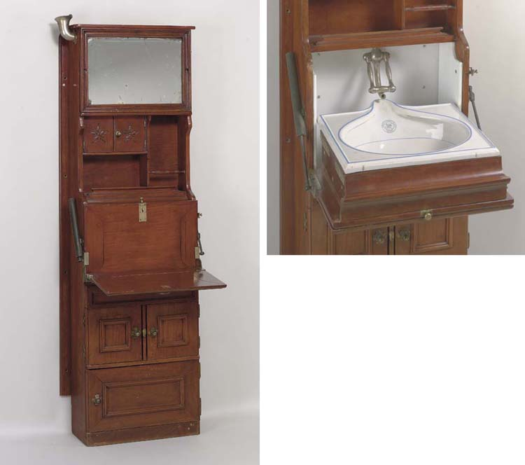 An early 20th century mahogany wash stand for the North German Lloyd