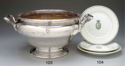 A large footed soup tureen in