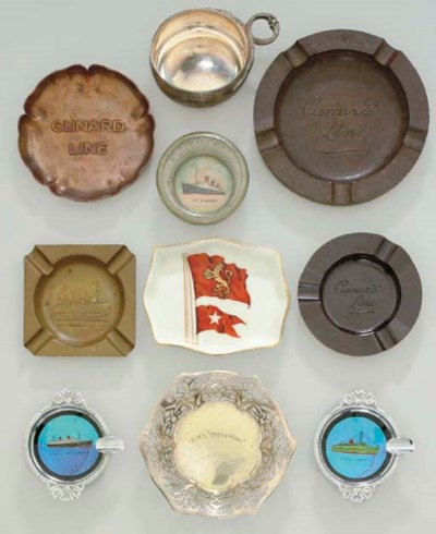 A COLLECTION OF TEN ASHTRAYS F