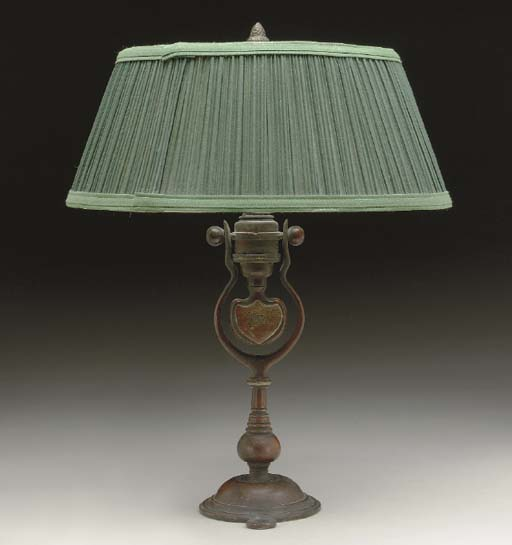 A NICKLE PLATED AND GIMBALED STATEROOM LAMP FOR THE WHITE STAR LINE