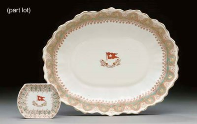 A PAIR OF BUTTER PAT DISHES AN