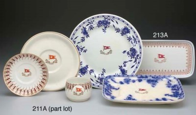 SIX PIECES OF CHINA FOR THE WH