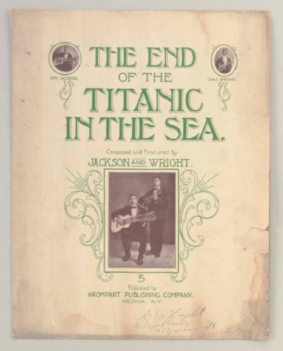 SHEET MUSIC: THE END OF THE TI
